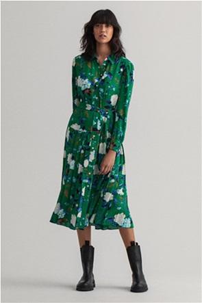 Gant γυναικείο midi φόρεμα πλισέ με floral print