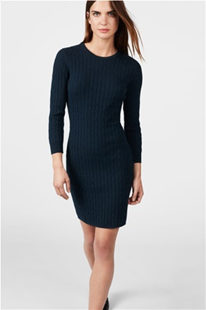 Gant γυναικείο mini πλεκτό φόρεμα μονόχρωμο