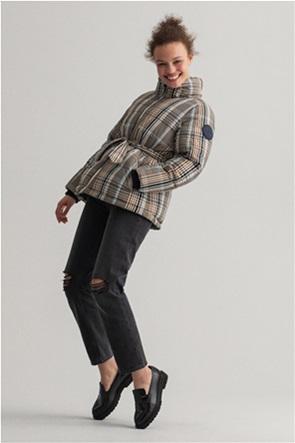 Gant γυναικείο μπουφάν καπιτονέ με καρό σχέδιο