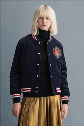 "Gant γυναικείο bomber jacket με patch ""Royal Crest"""