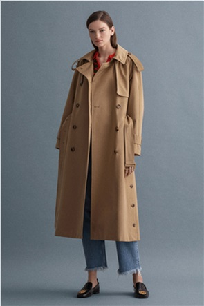 Gant γυναικεία καμπαρντίνα oversized με ζώνη