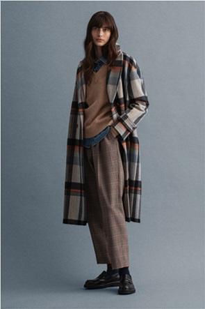 """Gant γυναικείο μάλλινο παλτό με καρό σχέδιο """"Cocoon"""""""