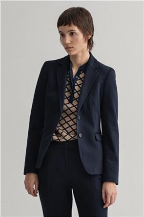 "Gant γυναικείο σακάκι μονόχρωμο Slim Fit ""Jersey Blazer"""