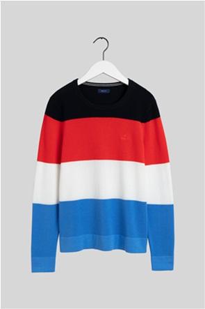 Gant γυναικείο πουλόβερ με ριγέ σχέδιο colourblocked