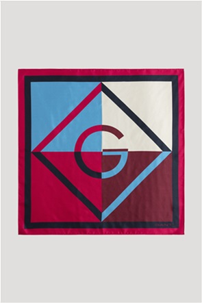 "Gant γυναικείο μεταξωτό μαντήλι colourblocked με λογότυπο ""Iconic G"""