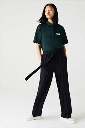 Lacoste γυναικείο παντελόνι με ζώνη ψηλόμεσο High-Waisted Flared Wool