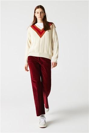 Lacoste γυναικείο παντελόνι κοτλέ Flare Fit