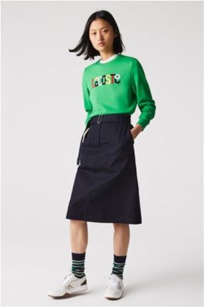 Lacoste γυναικεία midi φούστα ψηλόμεση με ζώνη