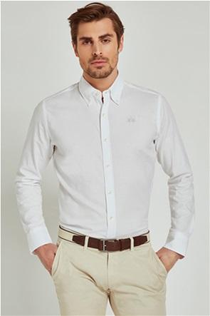 La Martina ανδρικό πουκάμισο με μικρό logo Leon
