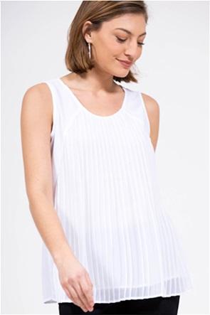 Nautica γυναικεία αμάνικη μπλούζα πλισέ