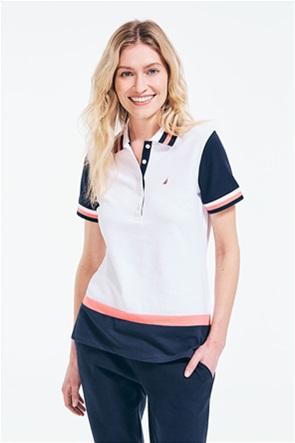 Nautica γυναικεία πόλο μπλούζα colourblocked