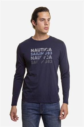 Nautica ανδρική μπλούζα με logo print