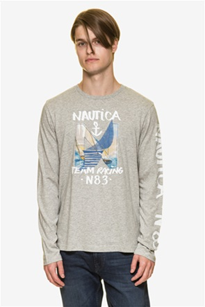 Nautica ανδρική μπλούζα μακρυμάνικη με prints