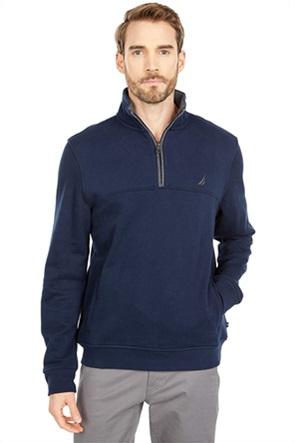Nautica ανδρική fleece μπλούζα με φερμουάρ στη λαιμόκοψη