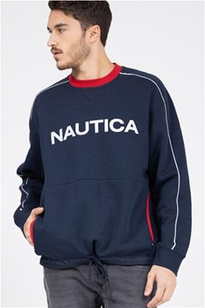 Nautica ανδρική μπλούζα φούτερ με κεντημένο λογότυπο