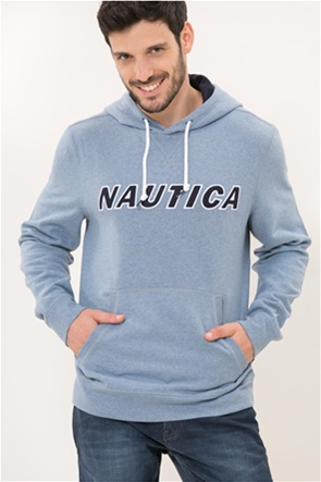 Nautica ανδρική μπλούζα φούτερ με κεντημένο logo  και κουκούλα