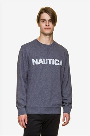 Nautica ανδρική μπλούζα μελανζέ με κεντημένο logo