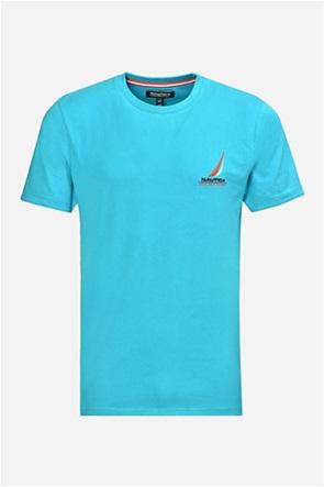 Nautica ανδρικό Τ-shirt με κεντημένο λογότυπο