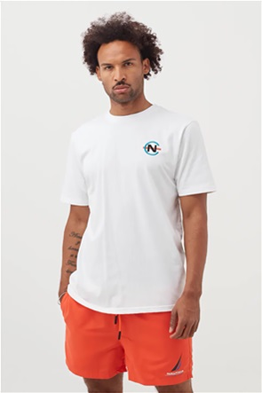 Nautica ανδρικό Τ-shirt με oversized logo print στο πίσω μέρος