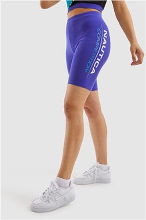 Nautica γυναικείο ποδηλατικό κολάν με logo print ''Rowa''