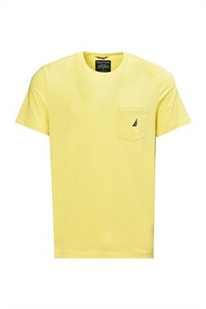 Nautica ανδρικό T-shirt μονόχρωμο με απλικέ τσέπη
