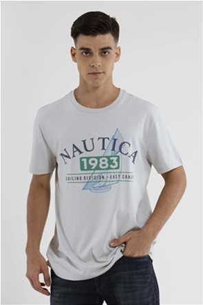 Nautica ανδρικό Τ-Shirt με logo print