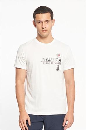 Nautica ανδρικό T-shirt με logo print ''Semaphore''