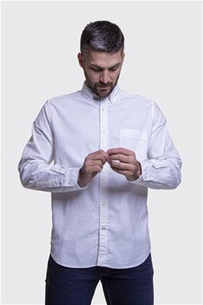Nautica ανδρικό μονόχρωμο πουκάμισο