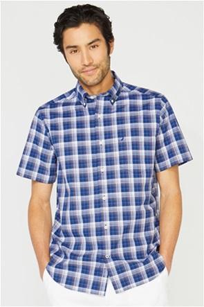 Nautica ανδρικό κοντομάνικο πουκάμισο καρό με τσέπη