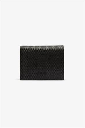 Lacoste γυναικείο δερμάτινο πορτοφόλι πικέ