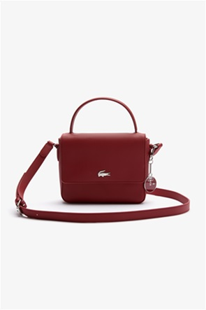 Lacoste γυναικεία τσάντα χειρός με μεταλλικό λογότυπο