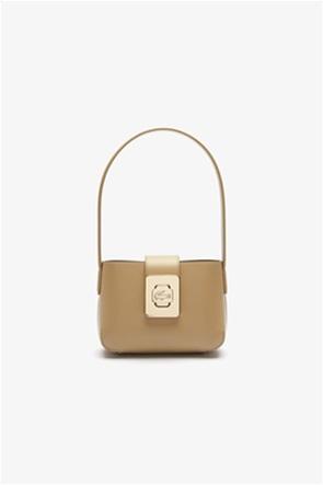 Lacoste γυναικεία τσάντα ώμου με μεταλλικό λογότυπο