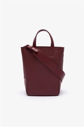 Lacoste γυναικεία τσάντα χειρός με ανάγλυφο λογότυπο