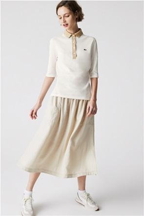 Lacoste γυναικεία πόλο μπλούζα Slim Fit