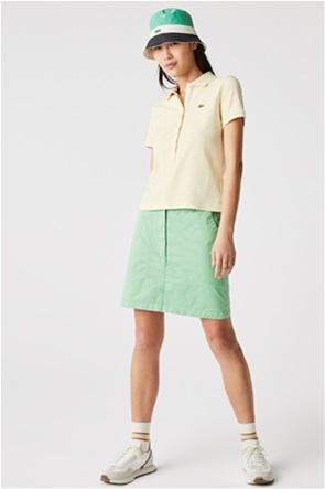 Lacoste γυναικεία πόλο μπλούζα πικέ με μεταλλικό λογότυπο
