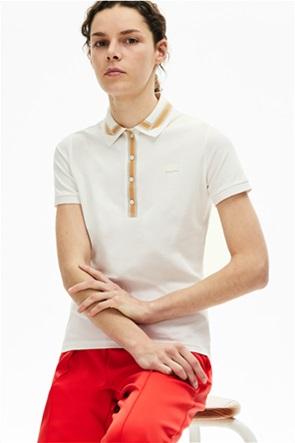 "Lacoste γυναικεία polo μπλούζα ""Contrast Stretch Cotton"""