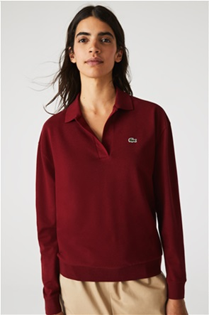 Lacoste γυναικεία πόλο μπλούζα με κεντημένο λογότυπο Regular Fit