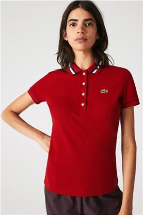 Lacoste γυναικεία πόλο μπλούζα πικέ Slim Fit