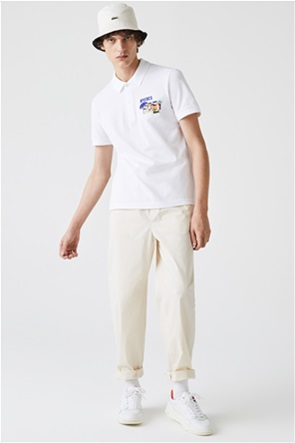 Lacoste ανδρική πικέ πόλο μπλούζα με κέντημα