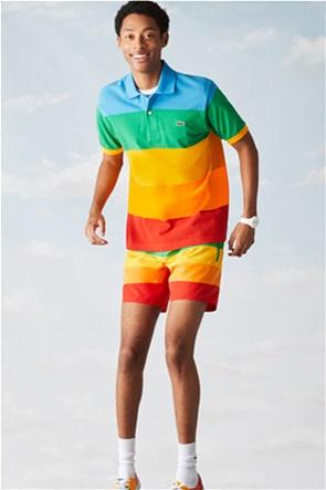 Lacoste ανδρική πόλο μπλούζα ριγέ ''Lacoste x Polaroid''