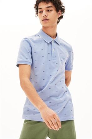 Lacoste ανδρική μπλούζα πόλο με all-over print