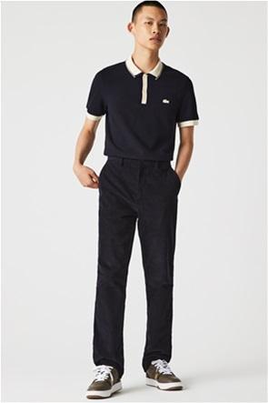 Lacoste ανδρική πόλο μπλούζα πικέ με contrast λογότυπο