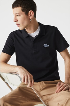 Lacoste ανδρική πόλο μπλούζα με απλικέ λογότυπο