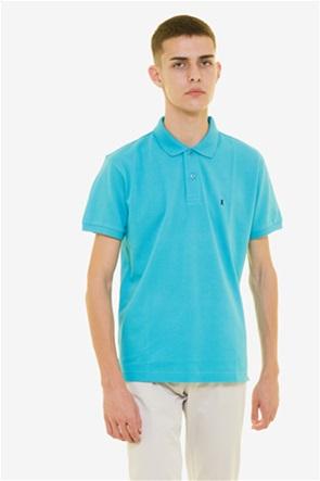 The Bostonias ανδρική μπλούζα πόλο μονόχρωμη