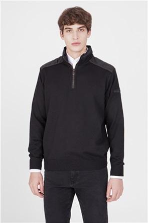 Paul&Shark ανδρικό μάλλινο πουλόβερ με φερμουάρ 1/2