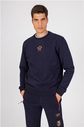 Paul&Shark ανδρική μπλούζα φούτερ με logo print