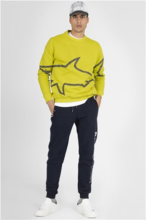 Paul&Shark ανδρικό παντελόνι φόρμας με logo print