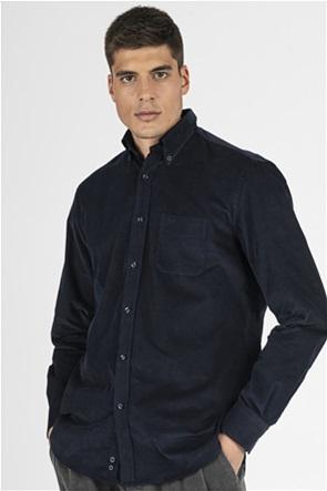 """Paul&Shark ανδρικό πουκάμισο μονόχρωμο με κεντημένο logo """"Velvet"""""""