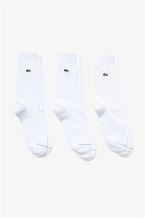 Lacoste ανδρικές ψηλές κάλτσες με κεντημένο λογότυπο (3 τεμάχια)
