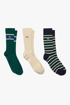 Lacoste σετ ανδρικές κάλτσες με κεντημένο λογότυπο (3 τεμάχια)